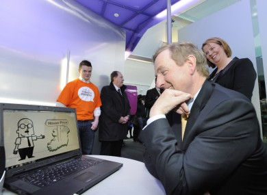Taoiseach Enda Kenny visiting the Digital Hub in May of this year.
