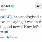 Gary Lineker wants to let bygones be bygones.