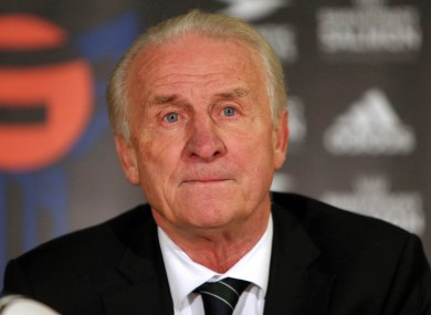 Republic of Ireland manager Giovanni Trapattoni speaking after last night's game.
