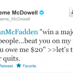 Graeme McDowell responds to the goading of his famous friend.