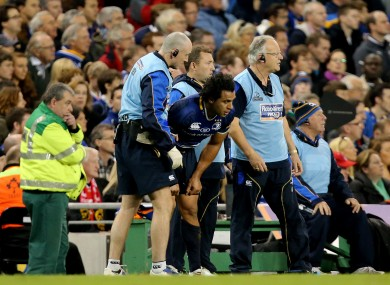 Nacewa was one of the Leinster players to pick up an injury at the weekend.