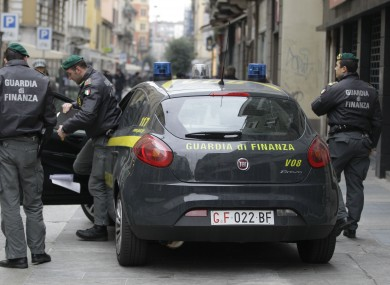 Italy's Guardia di Finanza carried out the raid.
