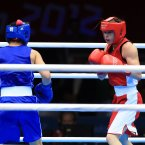 What to wear: Singlet and shorts (either red or blue); boxing helmet, gloves and boots.