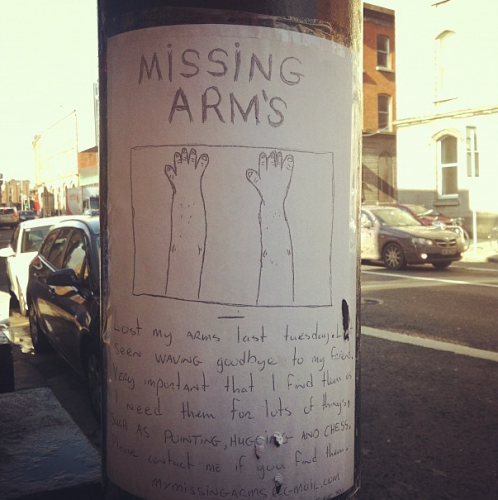 missing arms