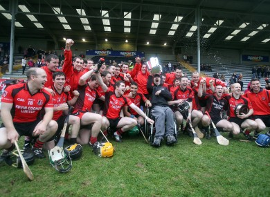 The Oulart-The-Ballagh team celebrating their recent Wexford county final success.
