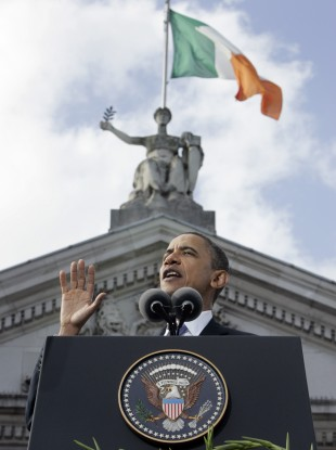 Barack Obama in College Green in Dublin last year.