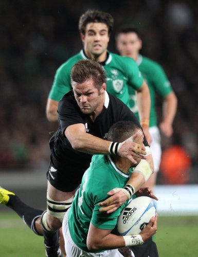 Richie McCaw tackles Simon Zebo  9/6/2012