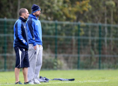 Rob Kearney watches on as Leinster trained this week.