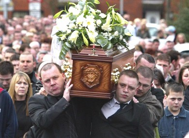 More than 1,000 people attended the victim's funeral in February 2005.