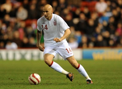 Shelvey in action for the England U-21s.