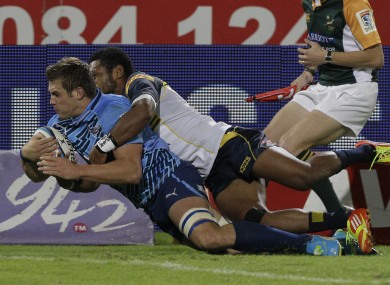 CJ Stander dives over for a try against the Brumbies.