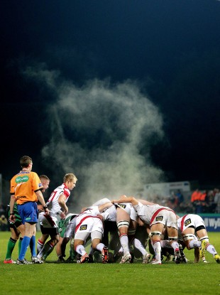 Ulster's scrum in action at Ravenhill.