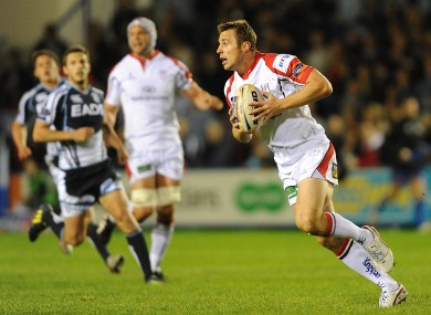 Tommy Bowe: scored two tries last week, makes his first home start since 2008 for Ulster tomorrow.