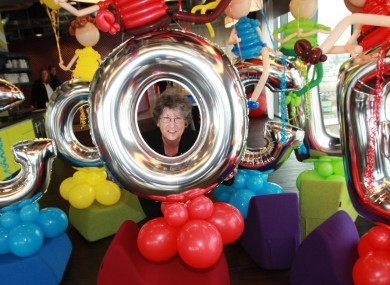 Pauline O'Connor among the Google balloons earlier today