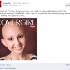 Human drama + good cause + beauty = viral.  (Note for this and all images to follow: The total brand likes are shown at the top of the image; new Likes for the specific posts are at the bottom of the image.)
