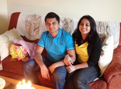 Savita Halappanavar and her husband Praveen