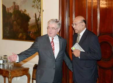 he Indian ambassador to Ireland, Debashish Chakravarti meet with the Tanaiste Eamon Gilmore today to discuss the death of Savita Halappanavar