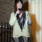 TD Clare Daly addresses the crowd gathered outside Leinster House this evening calling for legislation to be introduced to deal with the issue of abortion after the death of Savita Halappanava. 
