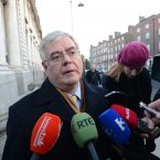 Gilmore talks to the media on his way into a cabinet meeting. Photo: Sasko Lazarov/Photocall Ireland