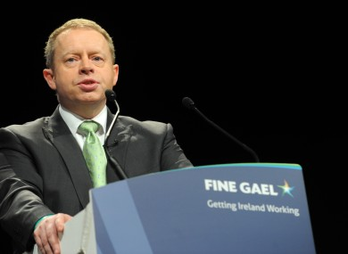Ciarn Cannon speaking at the Fine Gael Ard Fheis earlier this year. 