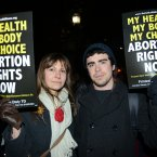 Abortion rights now demonstration in front of the Dáil.