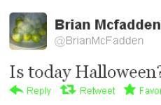 Tweet Sweeper: Brian McFadden is a little bit confused