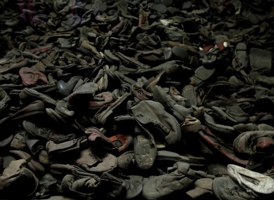 Thirty thousand shoes at the former Auschwitz concentration camp in Poland (File photo)