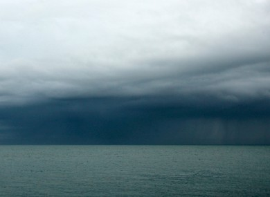 Dark clouds on the horrizon of Dublin Bay this week.