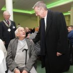 Archbishop of Dublin Diarmuid Martin is pictured talking to Denis Delaney, originally from Cork City