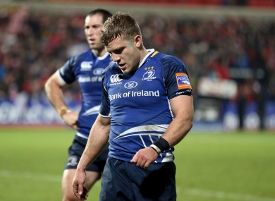 Ian Madigan trudges off at Ravenhill.