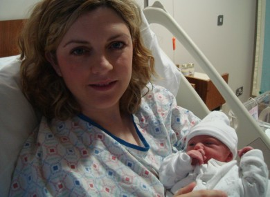 Anne O'Mahoney and her baby girl Zoey who was born yesterday.