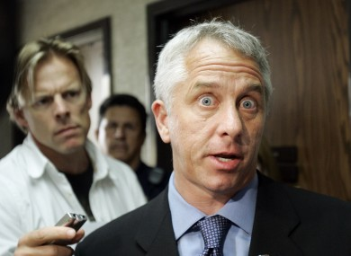 LeMond speaks to the press in 2007.