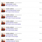Bubba Watson seemingly tries to thank every single person on Twitter that congratulated him on his Masters victory.