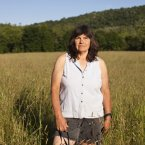 Susan Breese in a field near her house. 