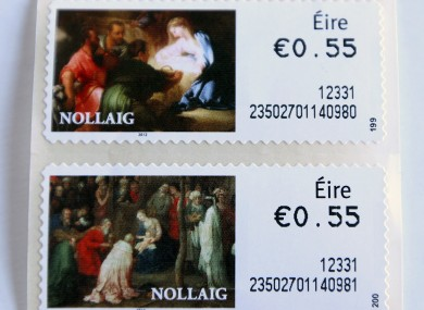 Irish stamps, which show the word 'ire', but not 'Ireland'.