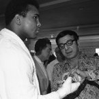 Dundee worked with no less than 16 world boxing champions, including Sugar Ray Leonard, José Nápoles, George Foreman and Muhammad Ali. Image: Jim Kerlin/AP/Press Association Images