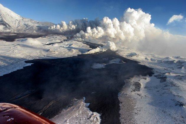 Plosky Tolbachik volcano erupts in Kamchatka