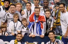 VIDEO: Beckham leaves LA Galaxy on a winning note