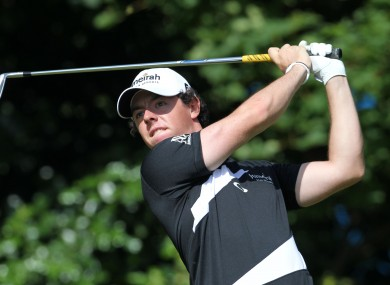 Rory McIlory: big money.