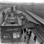 Saunderton Station, Buckinghamshire was damaged by members of the Suffragettes as part of their escalating campaign for voting rights. (PA Archive)