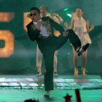 Two words to sum up the South Korean rapper's year? Gangnam Style. (AP Photo/Sakchai Lalit)