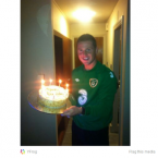 James McCarthy turns 24 while on duty with Ireland. 