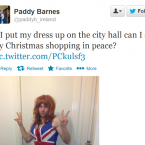 Paddy Barnes gets in touch with his feminine side... again.