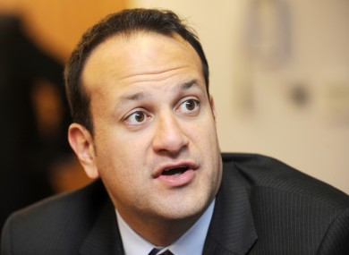 Minister for Transport Leo Varadkar at Shannon Airport