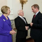 Meeting the President Michael D Higgins and his wife Sabina. Pic: Photocall Ireland/GIS