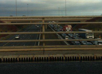 A reader's photo of the tailbacks on the M1 this lunchtime.