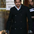 Praveen Halappanava leaves the hearing. 