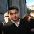 Praveen Halappanavar leaves the hearing. Photo Brian Farrell/Photcall Ireland