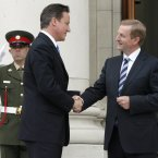 Meeting British Prime Minister David Cameron. Pic: Mark Stedman/Photocall Ireland