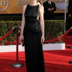 Keeping it demure is Downton's Michelle Dockery.